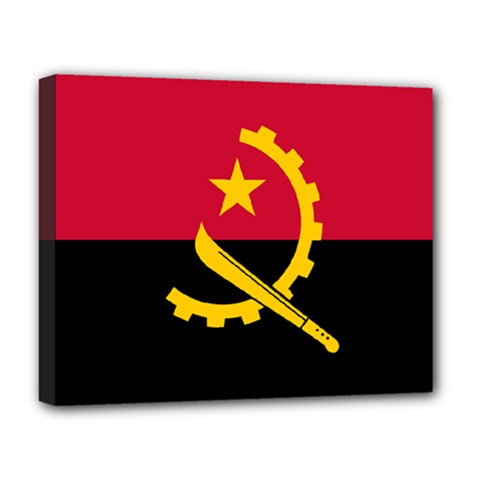 Flag Of Angola Deluxe Canvas 20  X 16