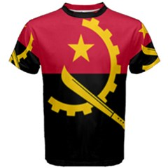 Flag Of Angola Men s Cotton Tee