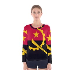 Flag Of Angola Women s Long Sleeve Tee