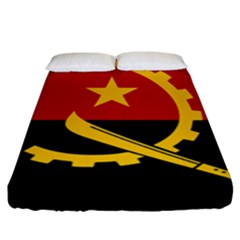 Flag Of Angola Fitted Sheet (king Size)