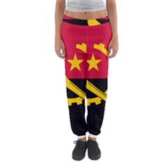 Flag Of Angola Women s Jogger Sweatpants