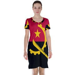 Flag Of Angola Short Sleeve Nightdress