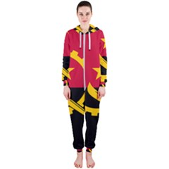 Flag Of Angola Hooded Jumpsuit (ladies)