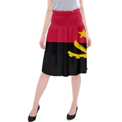 Flag Of Angola Midi Beach Skirt