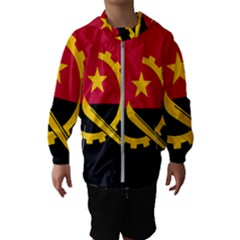 Flag Of Angola Hooded Wind Breaker (kids)