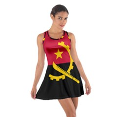 Flag Of Angola Cotton Racerback Dress