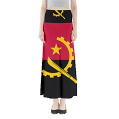 Flag Of Angola Full Length Maxi Skirt