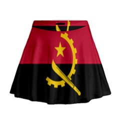 Flag Of Angola Mini Flare Skirt