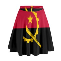 Flag Of Angola High Waist Skirt by abbeyz71