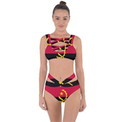 Flag Of Angola Bandaged Up Bikini Set