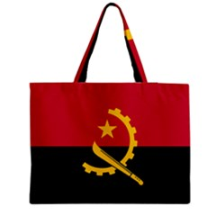 Flag Of Angola Zipper Medium Tote Bag