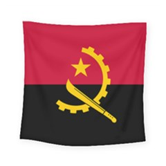 Flag Of Angola Square Tapestry (small)