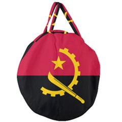 Flag Of Angola Giant Round Zipper Tote