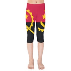 Flag Of Angola Kids  Capri Leggings
