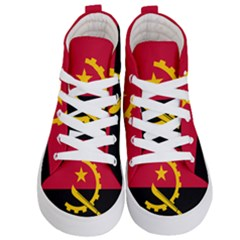 Flag Of Angola Kid s Hi Top Skate Sneakers