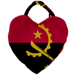 Flag Of Angola Giant Heart Shaped Tote