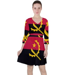 Flag Of Angola Ruffle Dress