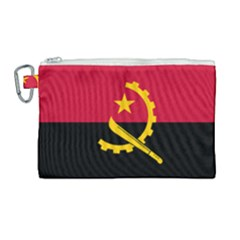 Flag Of Angola Canvas Cosmetic Bag (large)