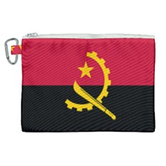 Flag Of Angola Canvas Cosmetic Bag (xl)