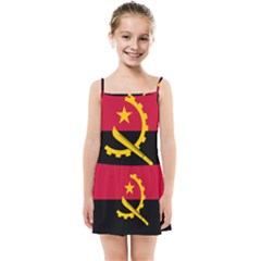Flag Of Angola Kids Summer Sun Dress