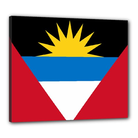Flag Of Antigua & Barbuda Canvas 24  X 20