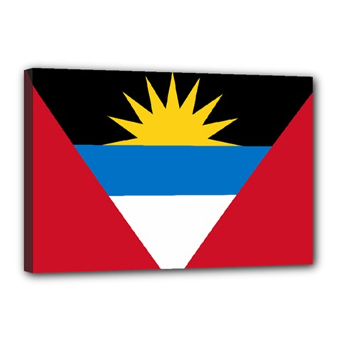 Flag Of Antigua & Barbuda Canvas 18  X 12