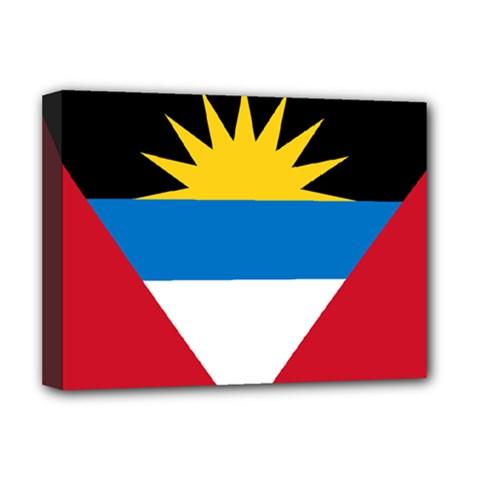 Flag Of Antigua & Barbuda Deluxe Canvas 16  X 12