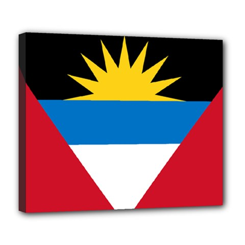 Flag Of Antigua & Barbuda Deluxe Canvas 24  X 20   by abbeyz71