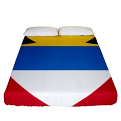 Flag Of Antigua & Barbuda Fitted Sheet (queen Size)