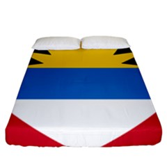 Flag Of Antigua & Barbuda Fitted Sheet (king Size)
