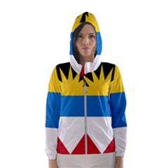 Flag Of Antigua & Barbuda Hooded Wind Breaker (women)