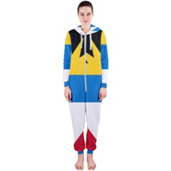 Flag Of Antigua & Barbuda Hooded Jumpsuit (ladies)