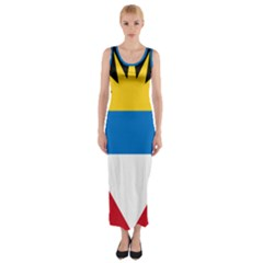Flag Of Antigua & Barbuda Fitted Maxi Dress