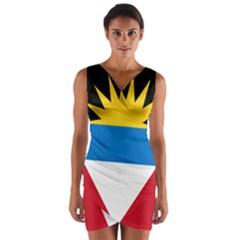Flag Of Antigua & Barbuda Wrap Front Bodycon Dress