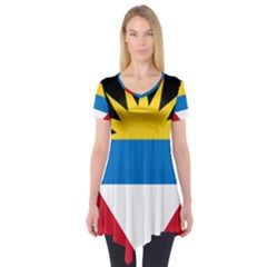 Flag Of Antigua & Barbuda Short Sleeve Tunic
