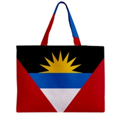 Flag Of Antigua & Barbuda Zipper Medium Tote Bag