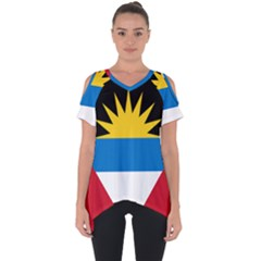 Flag Of Antigua & Barbuda Cut Out Side Drop Tee