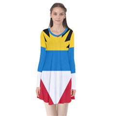Flag Of Antigua & Barbuda Flare Dress