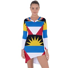 Flag Of Antigua & Barbuda Asymmetric Cut Out Shift Dress