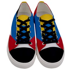 Flag Of Antigua & Barbuda Men s Low Top Canvas Sneakers