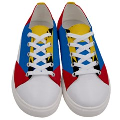 Flag Of Antigua & Barbuda Women s Low Top Canvas Sneakers