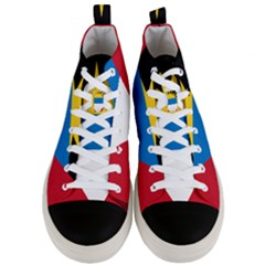 Flag Of Antigua & Barbuda Men s Mid Top Canvas Sneakers