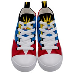 Flag Of Antigua & Barbuda Kid s Mid Top Canvas Sneakers