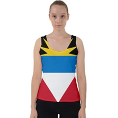 Flag Of Antigua & Barbuda Velvet Tank Top