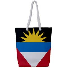 Flag Of Antigua & Barbuda Full Print Rope Handle Tote (small)