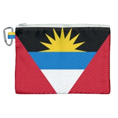 Flag Of Antigua & Barbuda Canvas Cosmetic Bag (xl)