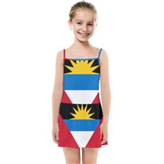 Flag Of Antigua & Barbuda Kids Summer Sun Dress