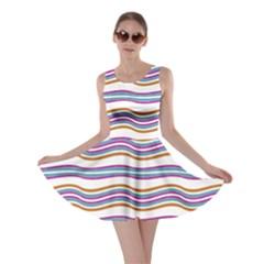 Colorful Wavy Stripes Pattern 7200 Skater Dress