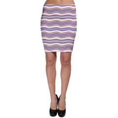 Colorful Wavy Stripes Pattern 7200 Bodycon Skirt