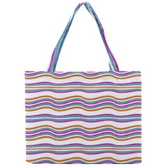 Colorful Wavy Stripes Pattern 7200 Mini Tote Bag
